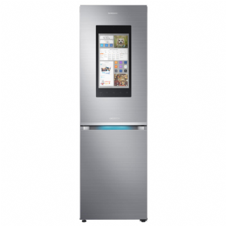 SAMSUNG RB38M7998S4 Family Hub | Smart Freestanding Fridge Freezer, A++ Energy Rating, 60cm